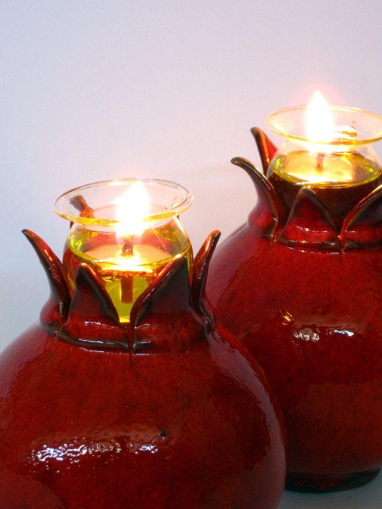 تزیینات شب یلدا با شمع