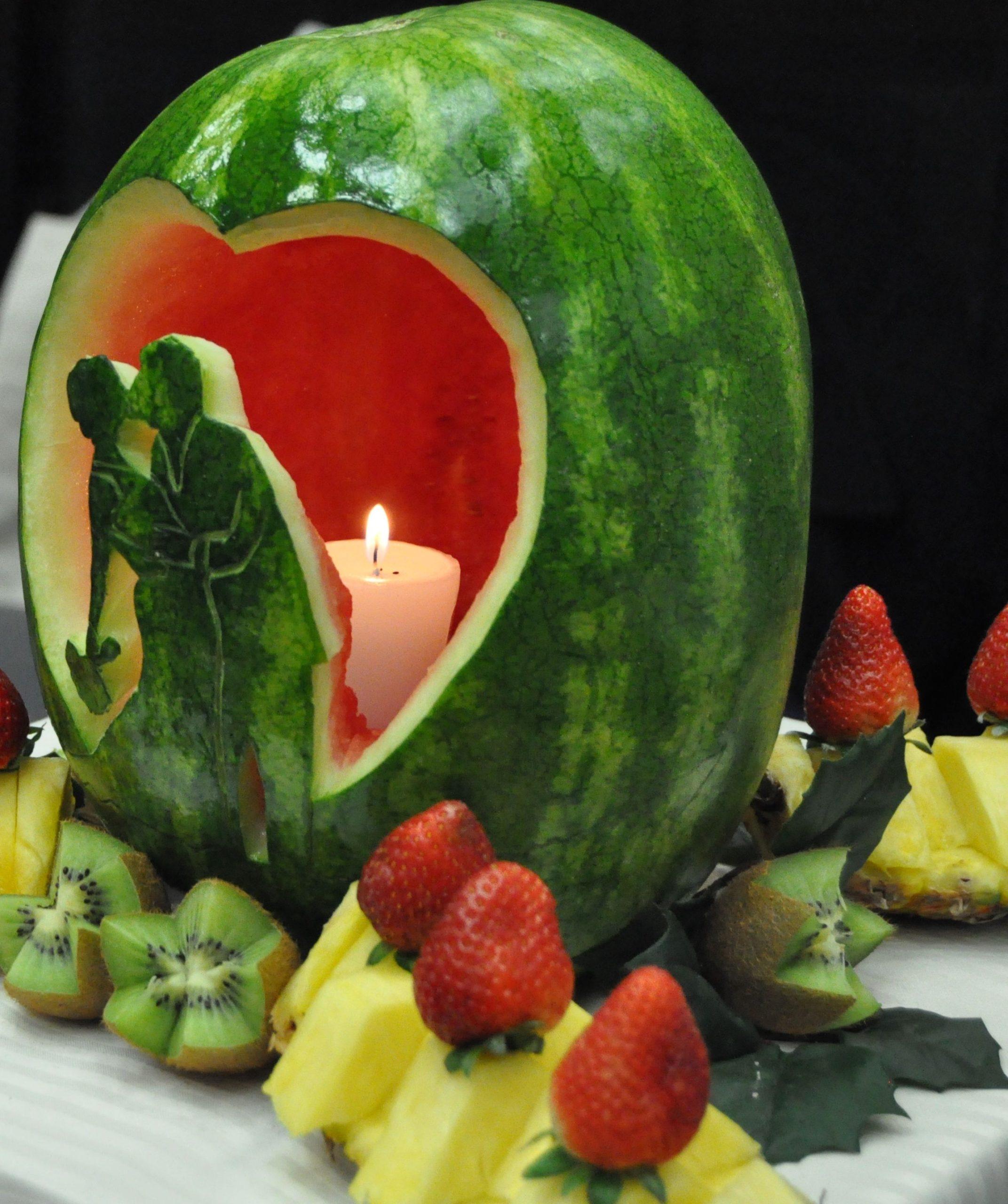 مدل شمع شب یلدا به شکل هندوانه