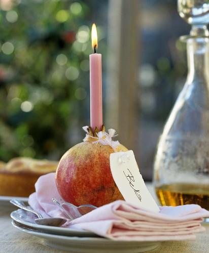 مدل خاص شمع شب یلدا با انار