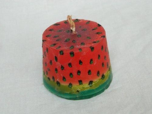 مدل شمع هندوانه ایی برای شب یلدا
