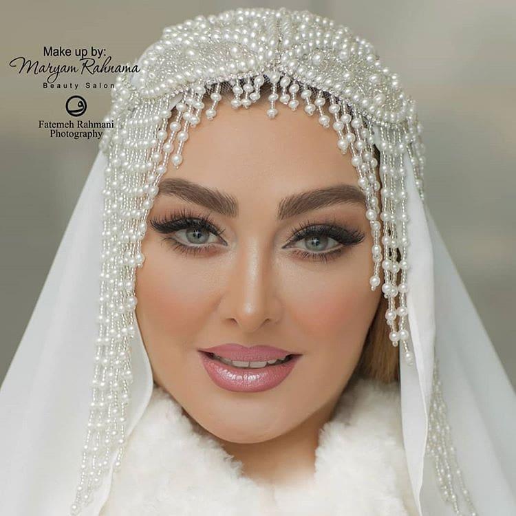 شوهر الهام حمیدی و میکاپ عروسی اش