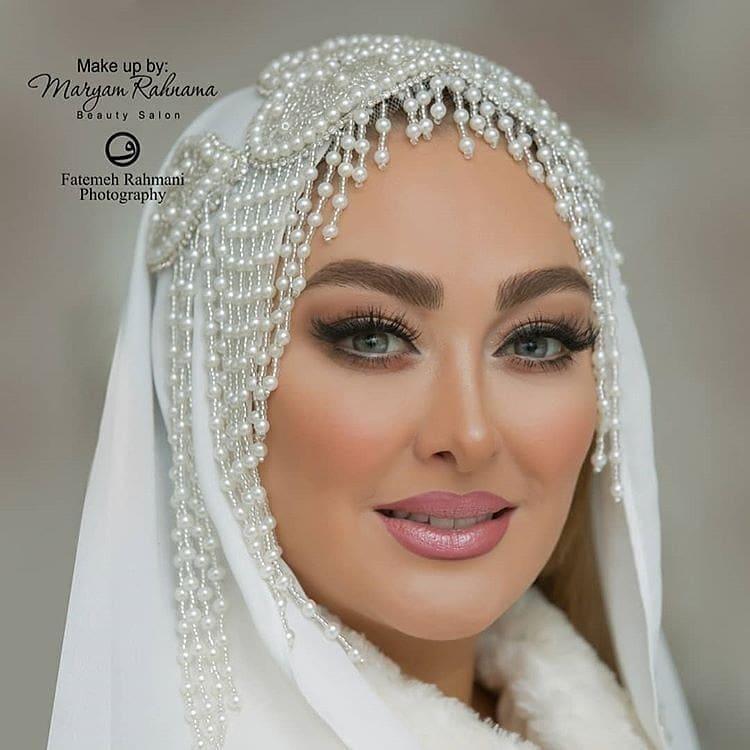 شوهر الهام حمیدی و عکس عروسیشان