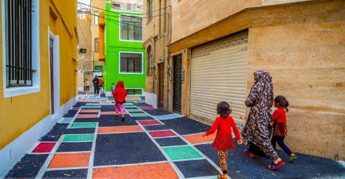 کوچه رنگارنگ تهران کجاست