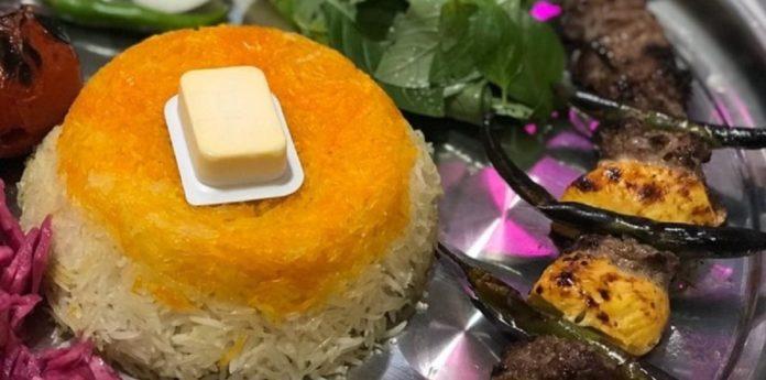 طرز تهیه کته قالبی رستورانی زعفرانی خوشمزه و خوش عطر در خانه