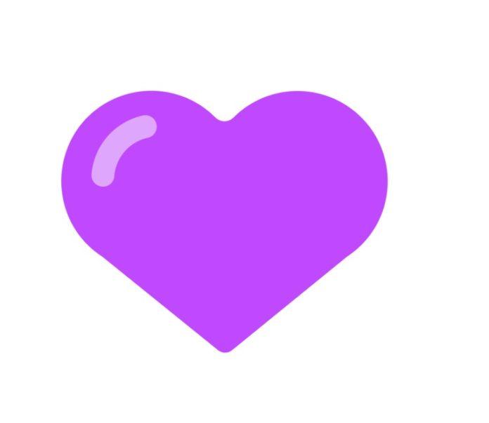 معنی قلب بنفش در استیکر ها چیست؟ 💜 یعنی چه؟