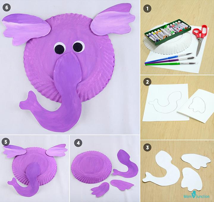 ساخت حیوانات با کاغذ رنگی (اردک، بوقلمون و فیل)