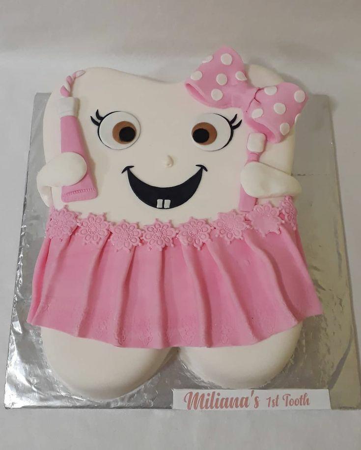 عکس کیک دندونی دخترونه جدید و جذاب