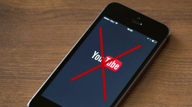 حذف محتوا در شبکه ی اجتماعی یوتیوب