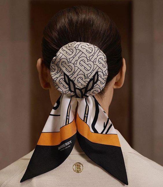 مدل مو گوجه با دستمال سر