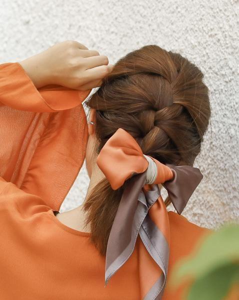 مدل مو با دستمال سر پاپیونی