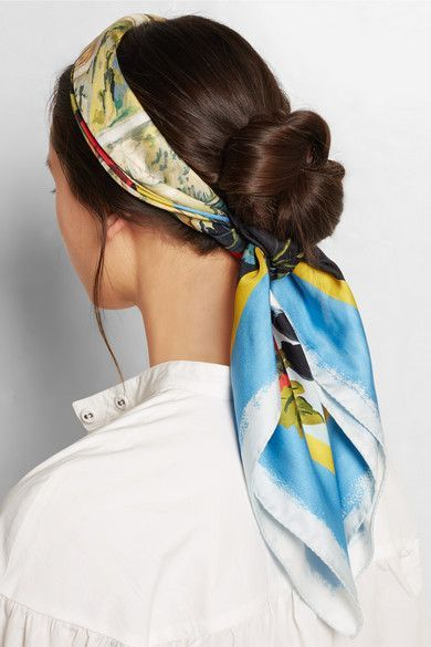 بستن ساده مو با دستمال سر