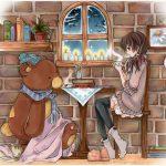 تصویر خرس کارتونی برای پروفایل شیک