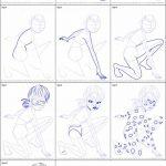 آموزش نقاشی دختر کفشدوزکی