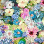 والپیپر هنری دخترانه با تصویر گل