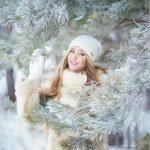 دختر در برف برای پروفایل